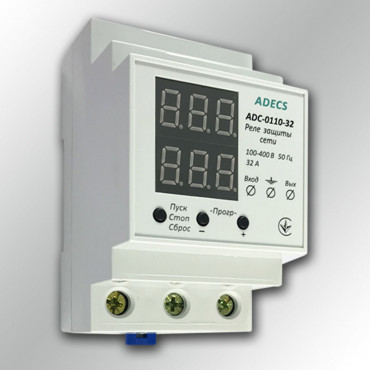 Реле напряжения с ограничителем тока ADECS ADC-0110-32